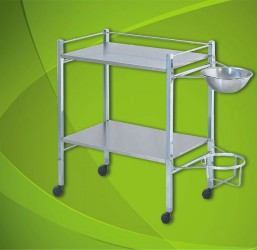Instrument Trolley(Chrome plated frame work)