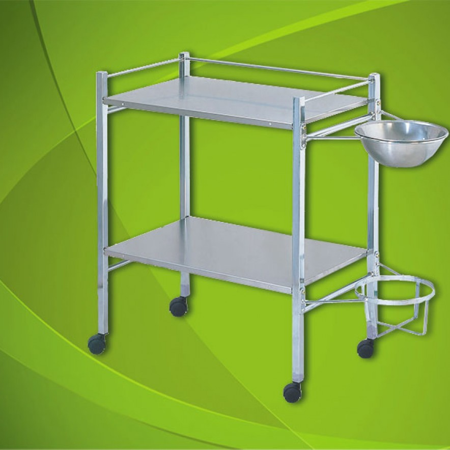 Instrument-Trolley (Chrome plated frame work)